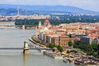 Budapest and Danube river panoramic view, Hungary, Europe ; Shutterstock ID 219158119